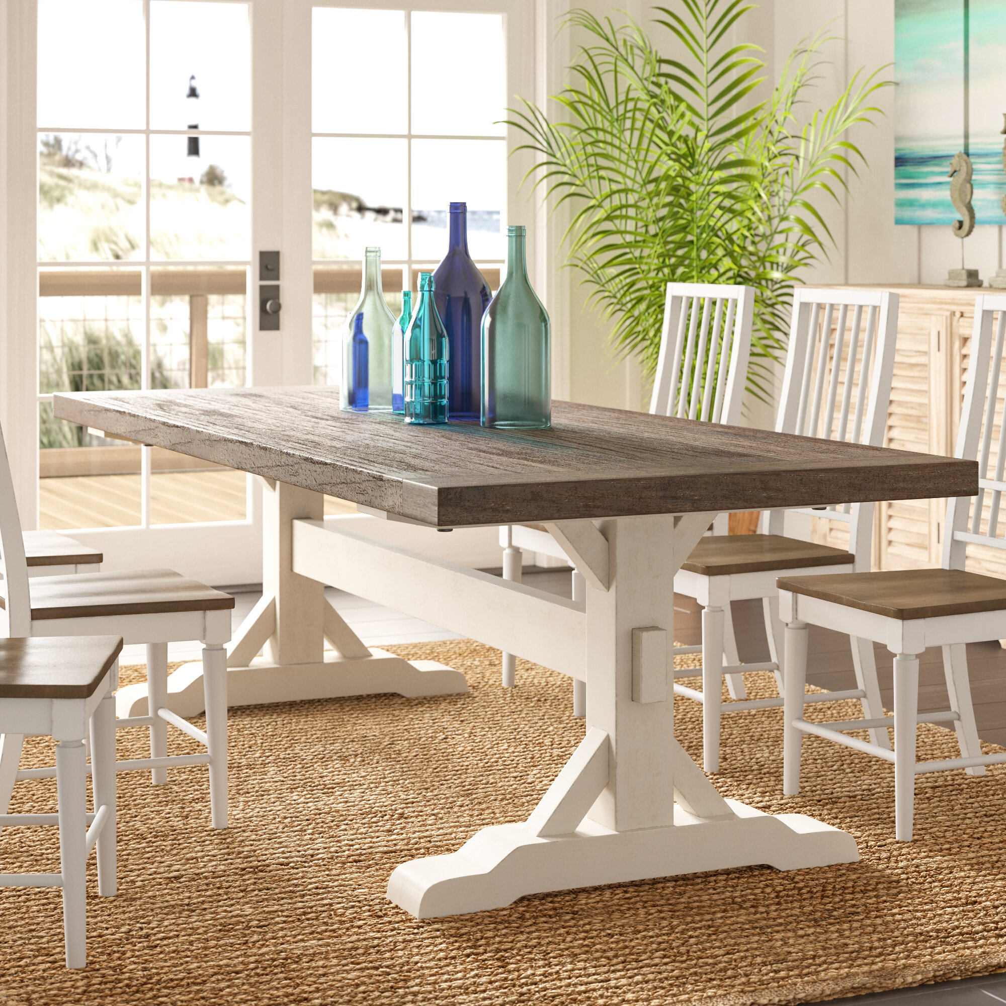 Brilliant Bulah Solid Wood Dining Table Download Free Architecture Designs Scobabritishbridgeorg