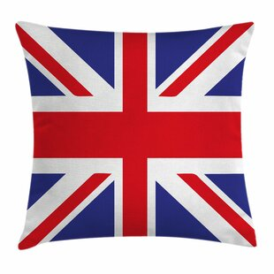 Union Jack British Loyal Symbol Square Pillow Cover