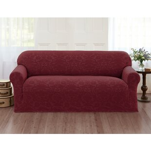 Damask Box Cushion Sofa Slipcover