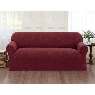 Damask Box Cushion Sofa Slipcover by Alcott Hill