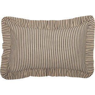 Surikova Ticking Cotton Lumbar Pillow