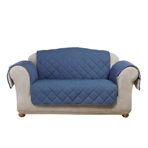 Denim Sherpa Box Cushion Loveseat Slipcover by Sure Fit