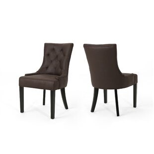 Savings Wynsum Traditional Microfiber Dining Chair (Set of 2) by Alcott Hill Reviews (2019) & Buyer's Guide
