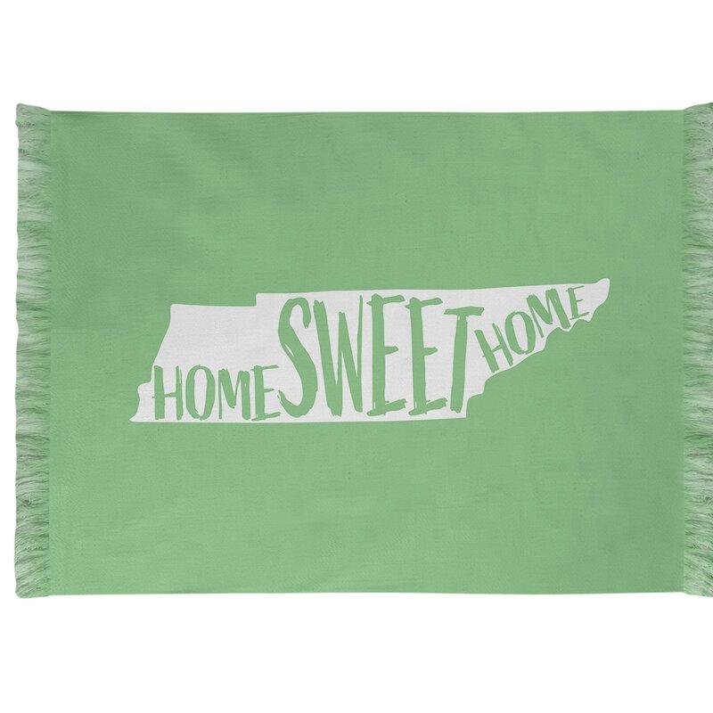 East Urban Home Home Sweet Tennessee Green Area Rug Wayfair