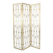 Mahesh 72 x 18.5 Metal 3 Panel Room Divider by Willa Arlo Interiors