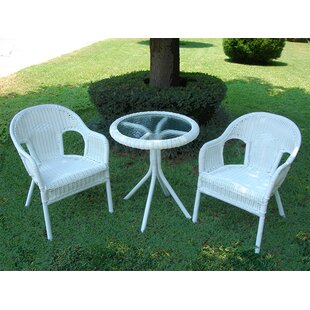 Narron 3 Piece Bistro Set