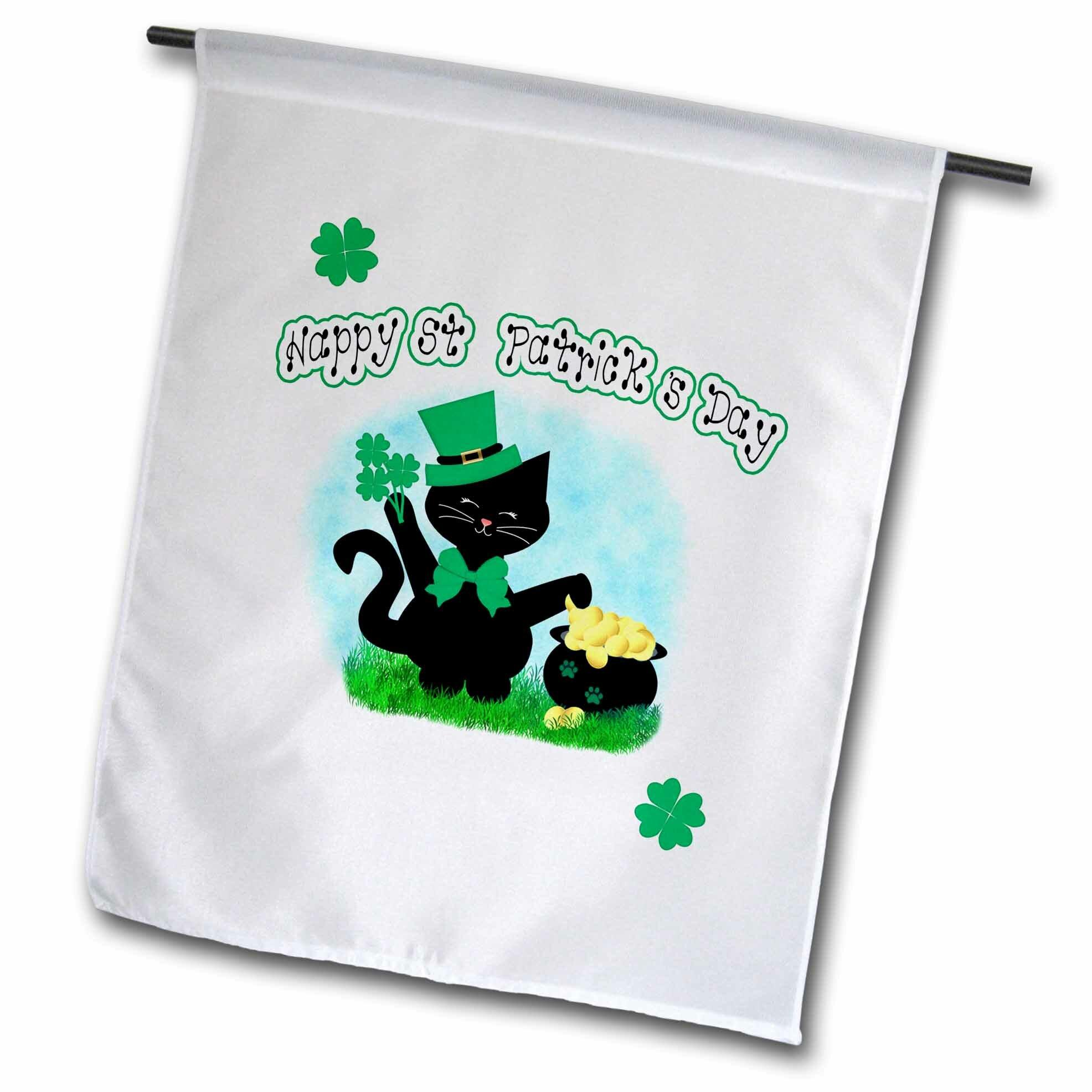 3drose Cute Cat Lovers Polyester 18 X 12 In Garden Flag Wayfair