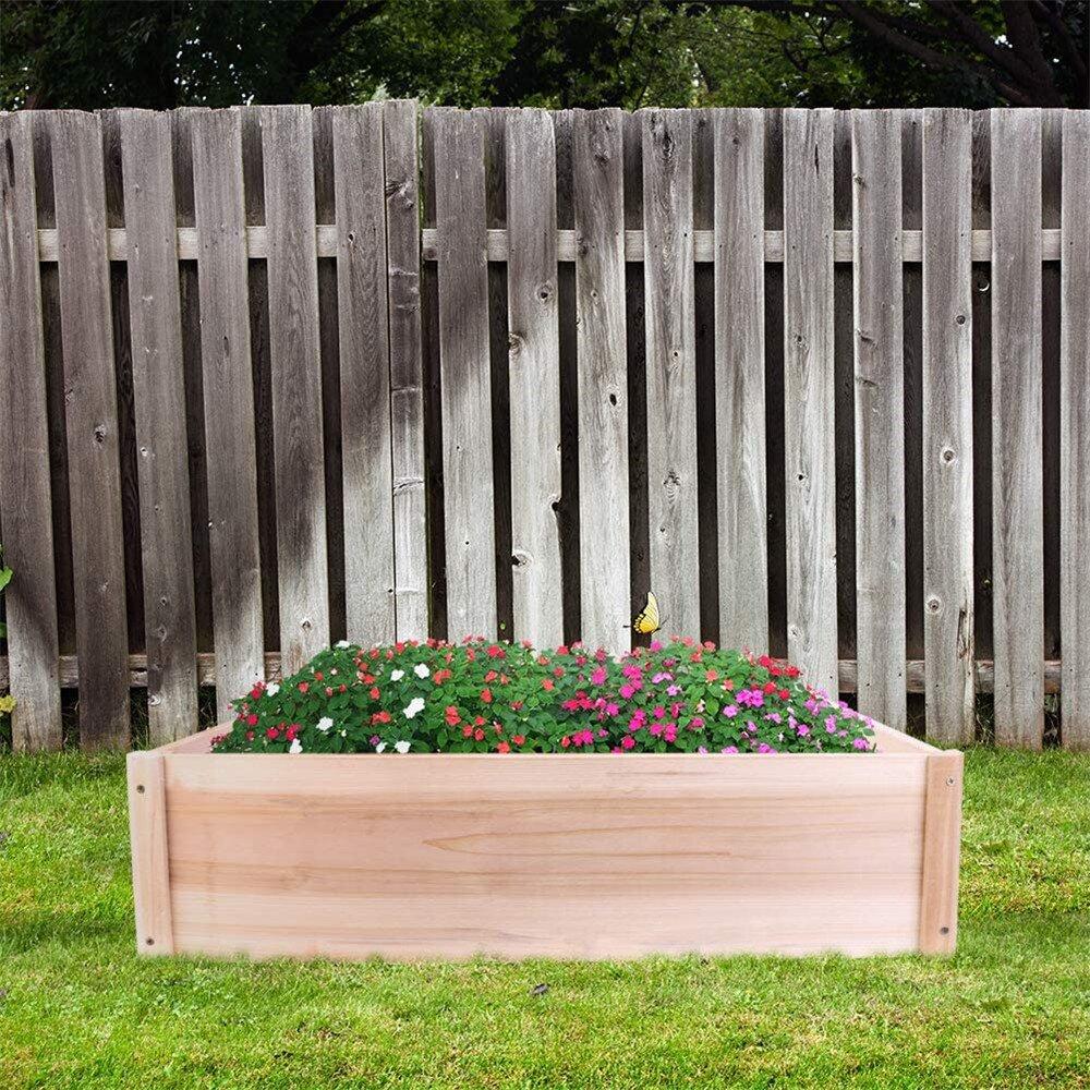 Raised Bed Gardening Kit,wooden Herb Planter Outdoor Raised