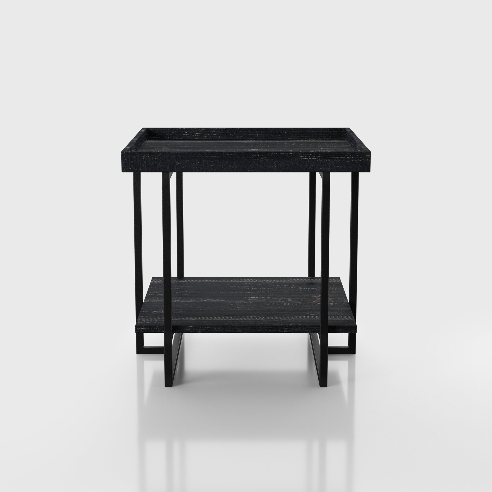 Brayden Studio Fatululik Frame End Table With Storage Wayfair