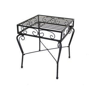 Criner Courtyard Steel Side Table