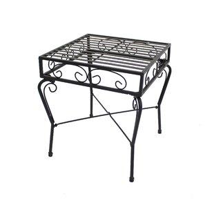 Criner Courtyard Steel Side Table