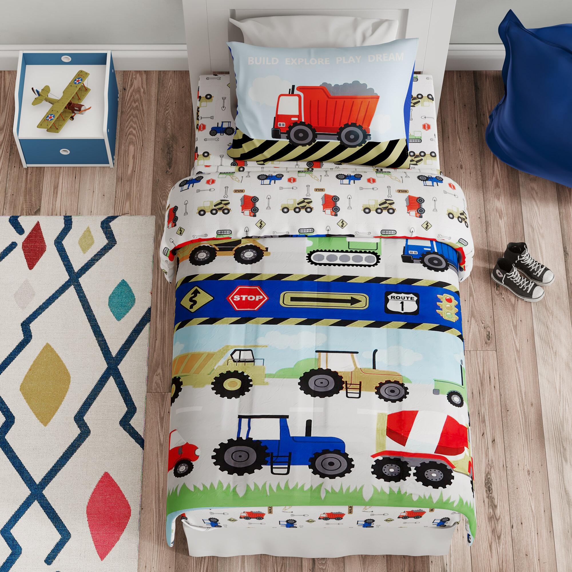 Rainbow, Full JUMJEE Rainbow Bedding Set Comforter Set 3D Pattern Printings Kids and Toddler Duvet Set Including 1 Microfiber Ultra Soft Comforter with 2 Pillow Shams 80 x 90
