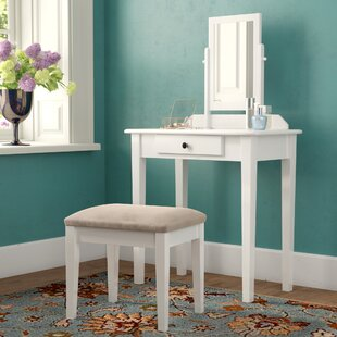 Stewart Vanity Set with Mirror by Charlton Home