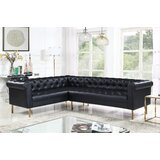 Darlington 104 Wide Faux Leather Modular Corner Sectional by Everly Quinn