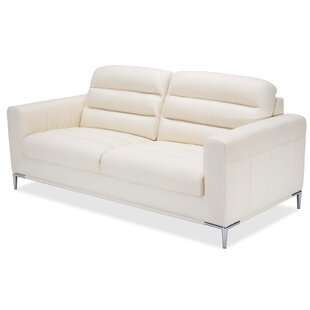 Mia Bella Elena Leather Sofa