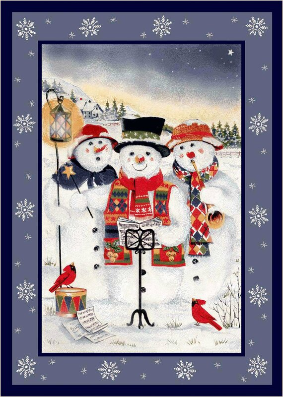 Merry Minstrels Snowmen Rug from Wayfair!