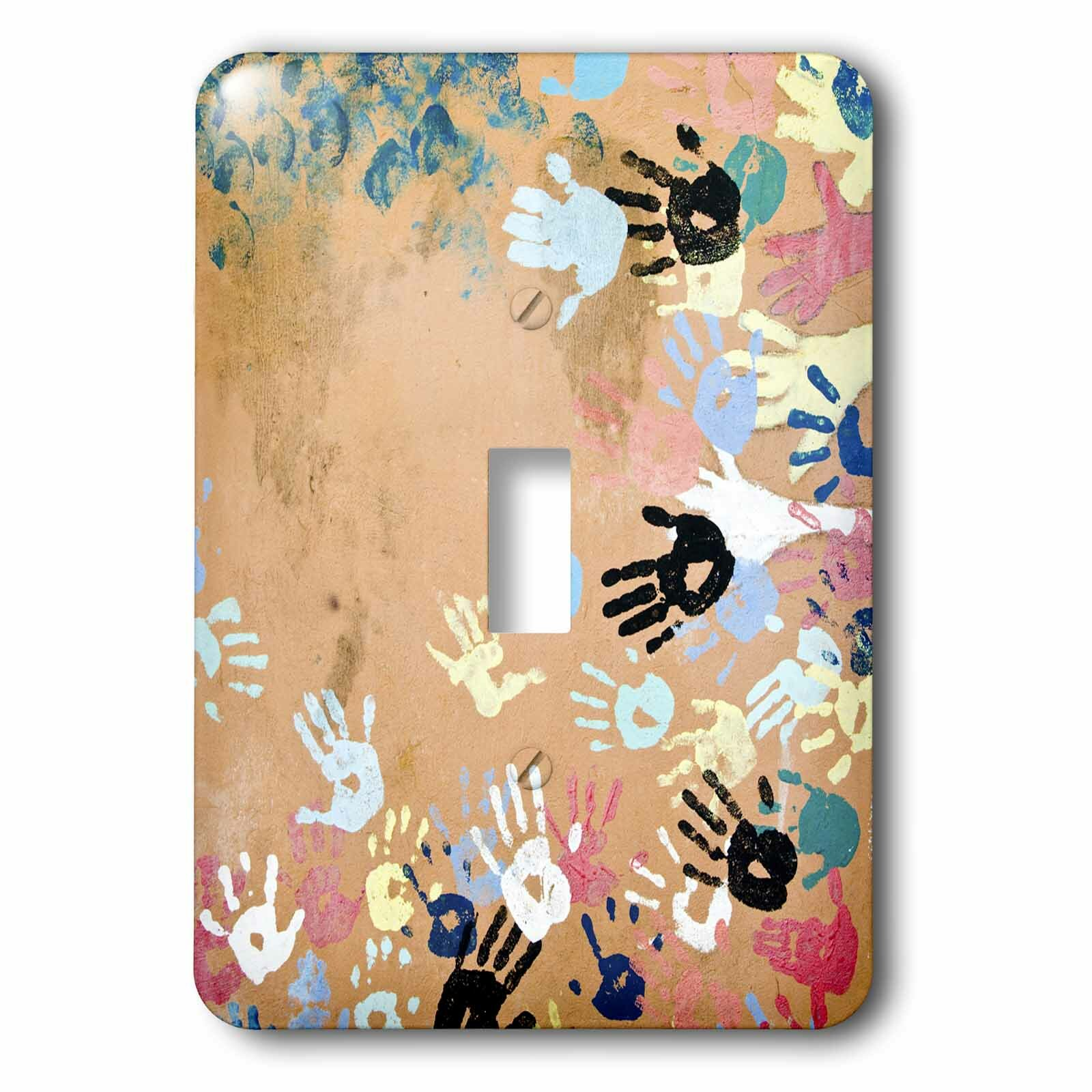 3drose Belgium Liege Mural Painting Hands 1 Gang Toggle Light Switch Wall Plate Wayfair
