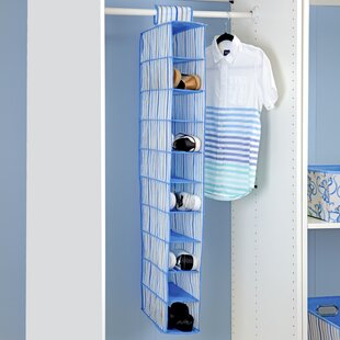 10 Pair Hanging Shoe Organizer By Laura Ashley