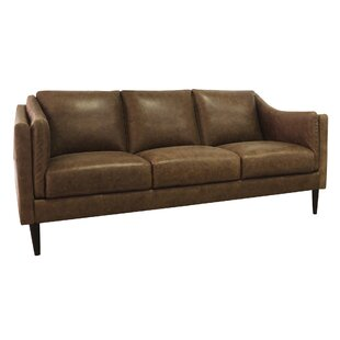 Shop Ring Leather Sofa by Union Rustic