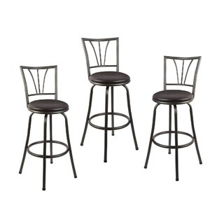 Read Reviews Silverstein Adjustable Height Swivel Bar Stool (Set of 3) by Winston Porter Reviews (2019) & Buyer's Guide