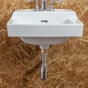 Order Ceramic 19 Wall Mount Bathroom Sink with Overflow ByFine Fixtures