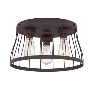 Compare prices Greenside 3-Light Flush Mount By Laurel Foundry Modern Farmhouse