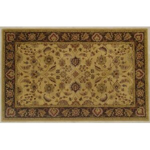Cardwell Hand-Tufted Gold/Brown Area Rug