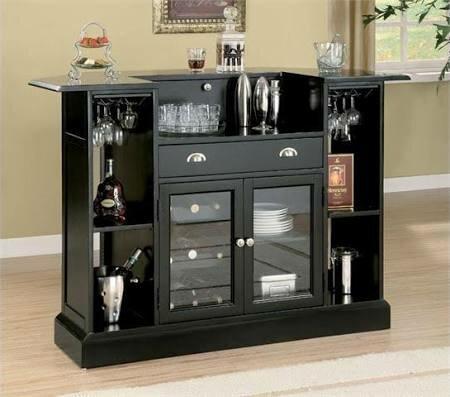 Anselm Bar With Wine Storage