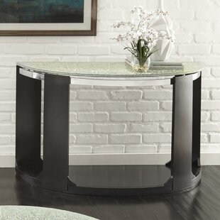 Charly Cracked Glass Console Table