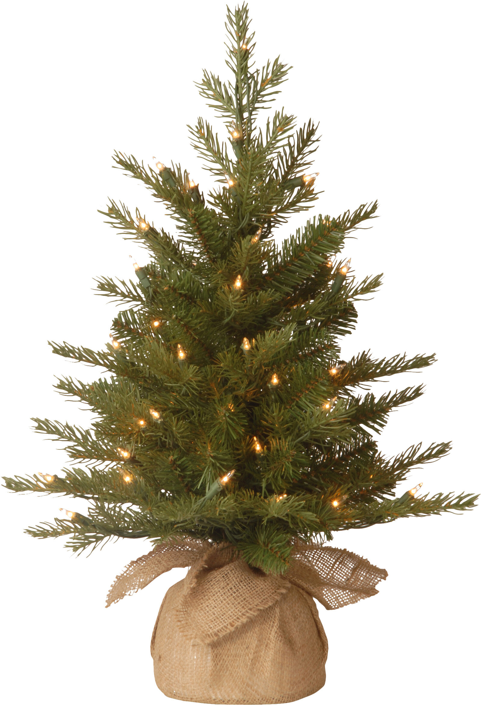 The Holiday Aisle Nordic Pre-Lit Feel Real Spruce Small Tree & Reviews   Wayfair
