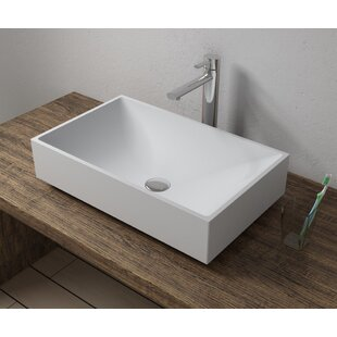 Check Prices Stone Rectangular Vessel Bathroom Sink By InFurniture