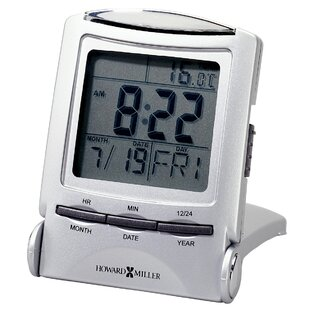 Distant Time Traveller Alarm Clock, 2 1/4in, Silver, 1 AAA (incl)