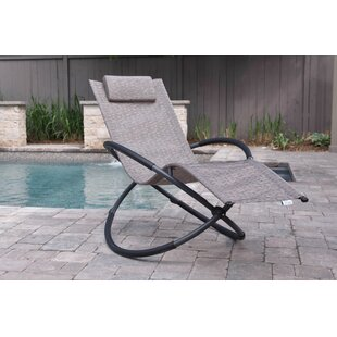Lewisville Folding Zero Gravity Chair with Cushion