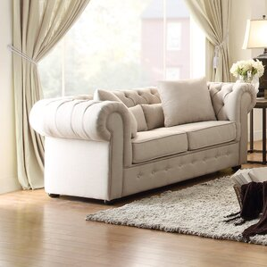 Pearlie Chesterfield Loveseat by Darby Home Co