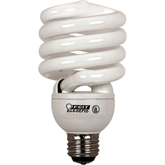 6 new 120V LIGHT BULB spring lamp fluorescent CFL 25w spiral 100w soft white E26