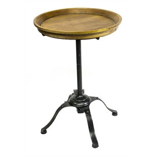 Coulombe Stylish Wood & Metal End Table