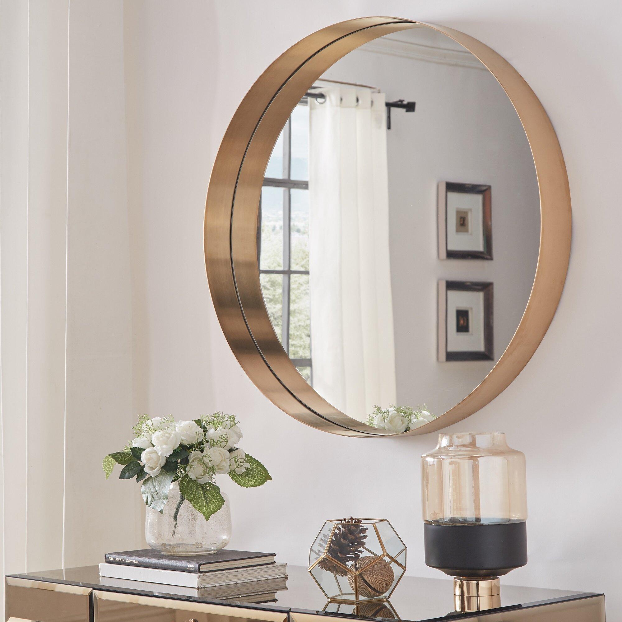 Gold Flamingo Paynesville Glam Accent Mirror Reviews Wayfair