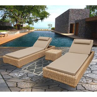 Brokaw Premium Quality Double Chaise Lounge with Cushion