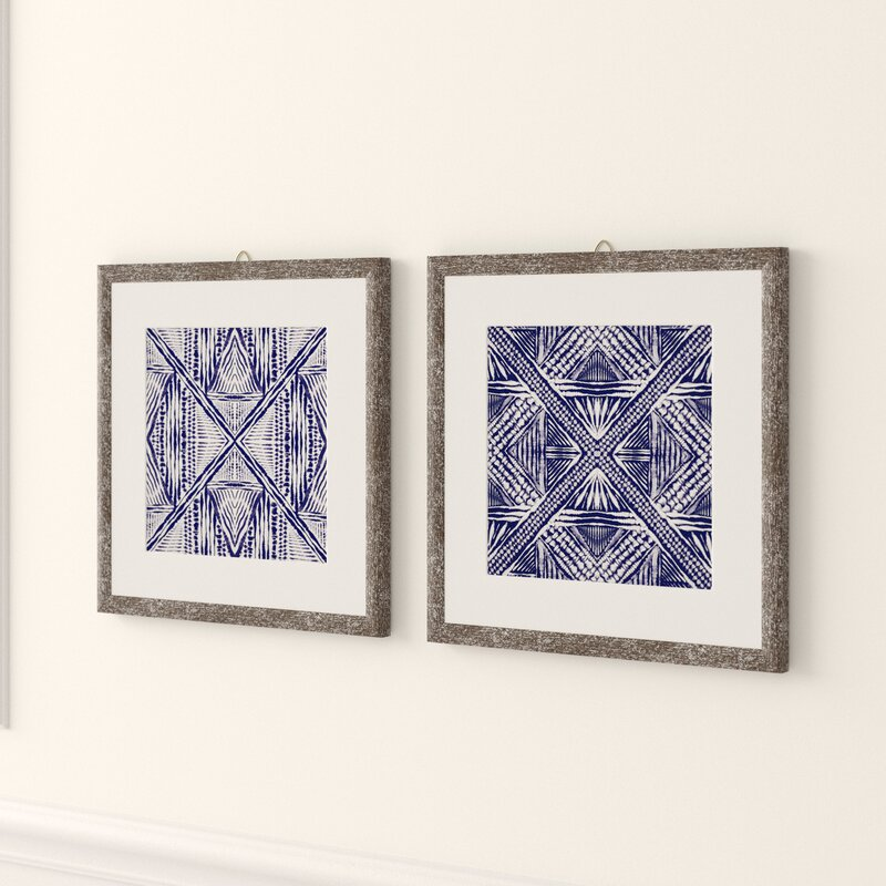 Inky Kaleidoscope 2 Piece Picture Frame Graphic Art Print Set On Paper Reviews Joss Main