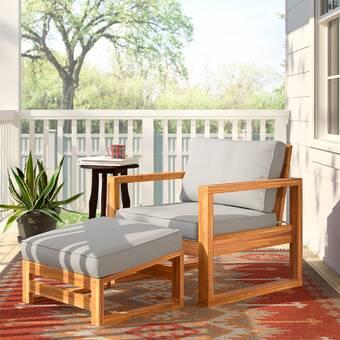 Bay Isle Home Crestline Patio Chair With Cushion Reviews Wayfair