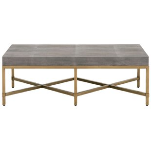 Huntsville Resin Top Rectangular Coffee Table