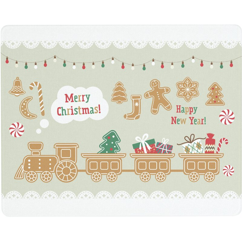 Vance Industries Merry Christmas And Happy New Year Glass Cutting Board Wayfair