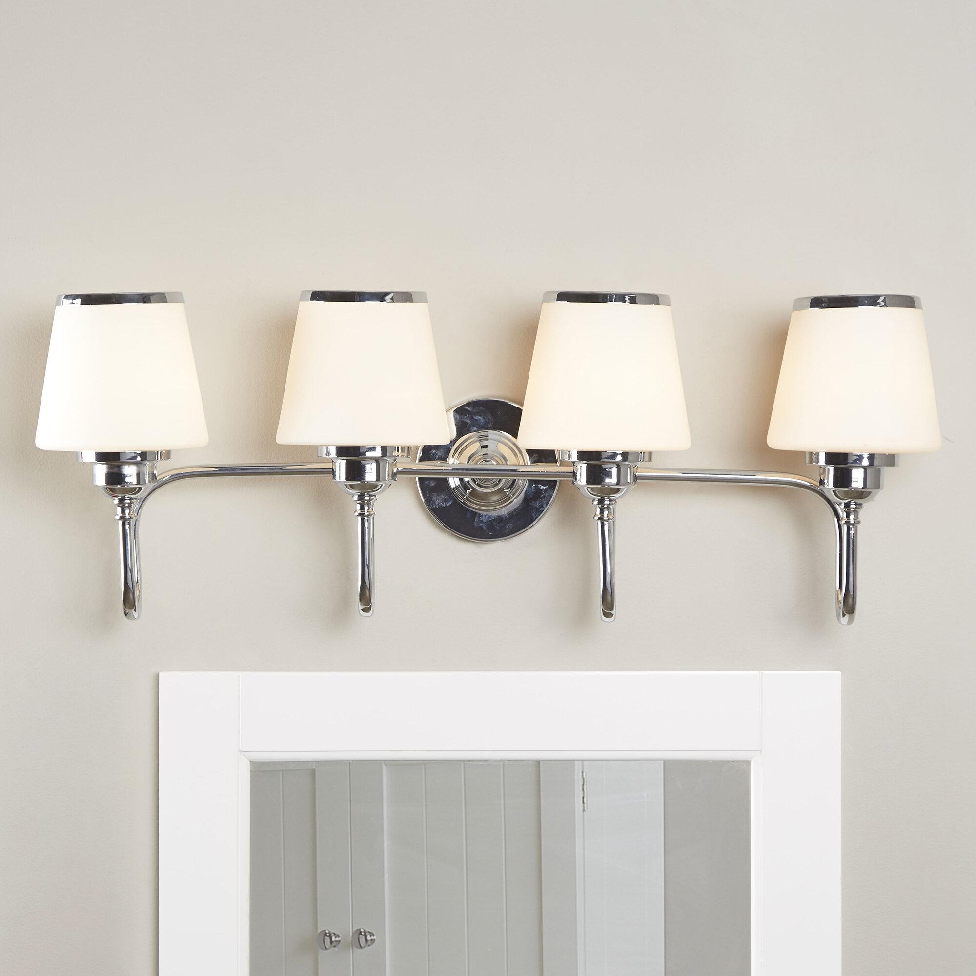 Andover Mills Milan 4 Light Vanity Light Reviews Wayfair