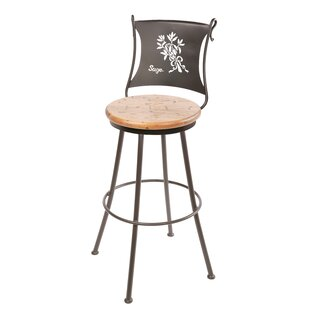 Chism Sage 25 Swivel Bar Stool by Fleur De Lis Living