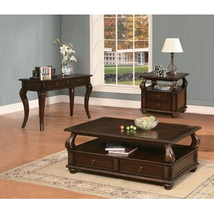 Amado 3 Piece Coffee Table Set