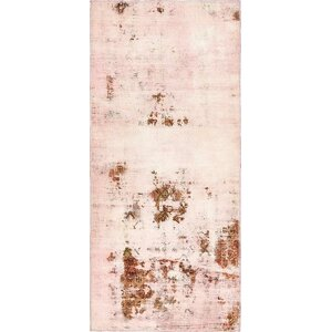 Sela Vintage Persian Hand Woven Wool Runner Pink Oriental Area Rug