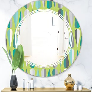 Triple C Abstract Drops VI Modern Wall Mirror