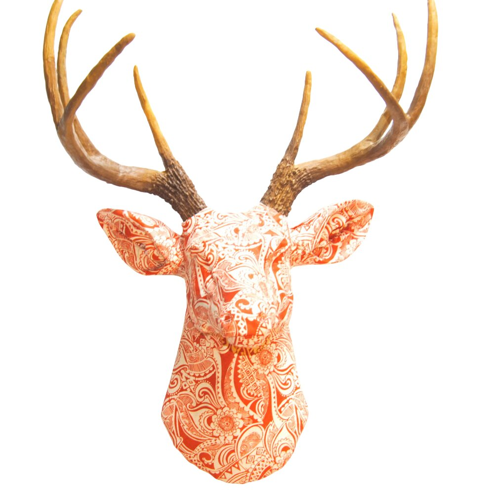 faux taxidermy fabric deer head wall dcor - Animal Head Wall Decor