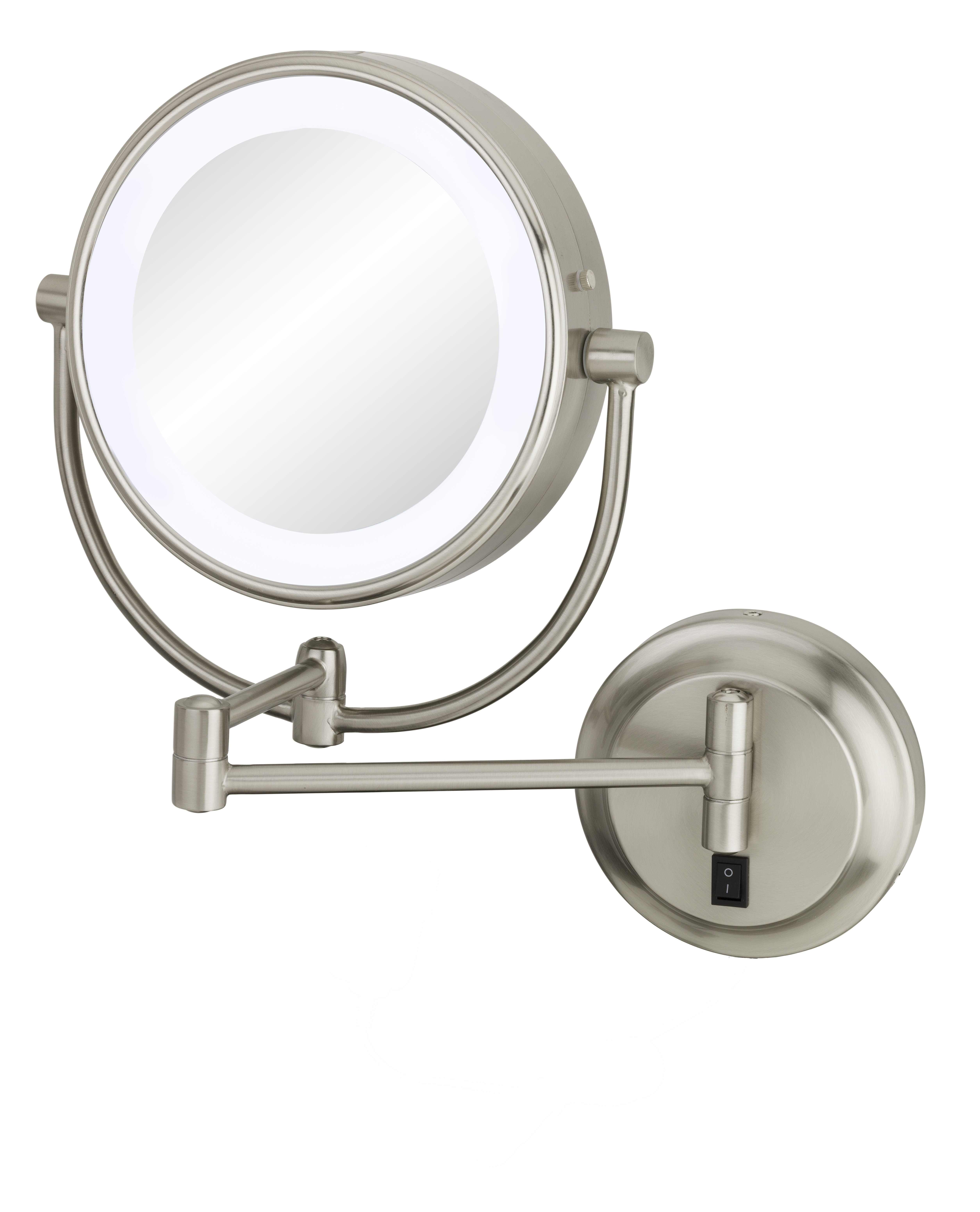 Kimball Young Neo Modern Double Sided Led Lighted Wall Mounted Mirror
