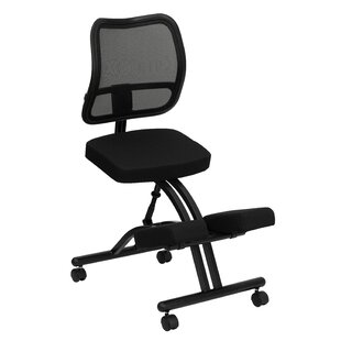 Woolbright Mobile Mid-Back Height Adjustable Kneeling Chair with Dual Wheel